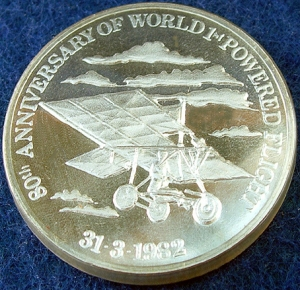 Medal struck by NZ Mint claiming Pearse flew first.