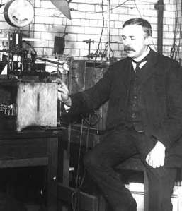 "Rutherford and his ""Number 8 Wire"" gold leaf experiment that 'split the atom'."