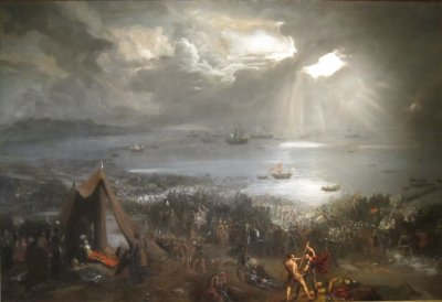 'Battle_of_Clontarf',_oil_on_canvas_painting_by_Hugh_Frazer,_1826