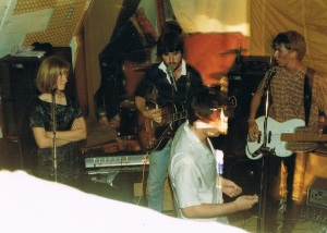 AFD (Esther, me Blair) playing the 21st party Feb 1986 Photo taken by Jonathan Hall